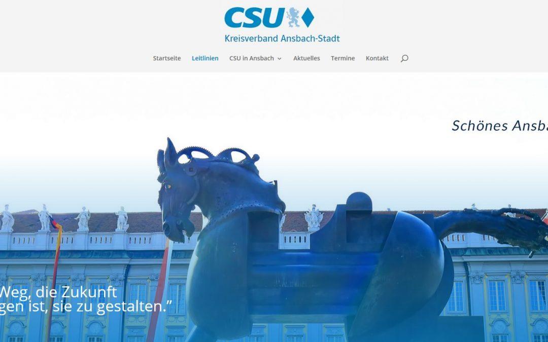 Neuer Internetauftritt der Ansbacher CSU